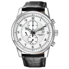 Citizen Men's CA0331-05A Eco-Drive Stainless Steel Chronograph Watch
