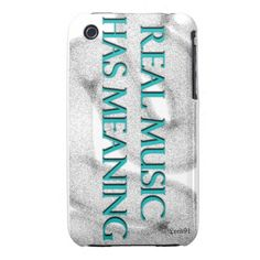 Real Music Has Meaning Case-Mate iPhone 3 Cases