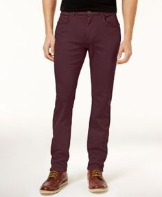 Tommy Hilfiger Men's Straight-Leg Jeans - Red 33x30