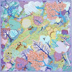 Scarf 90 Hermès | Dans Un Jardin Anglais, interesting and so precious , saved by C beau
