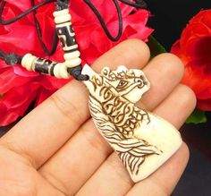 Awesome& Excellent Horse Shape Carving Bone Designer Pendant Jewelry NJ743 #Handmade