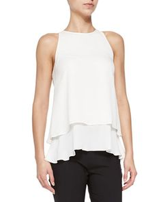 Falice Layered-Hem Sleeveless Top by Theory at Neiman Marcus.