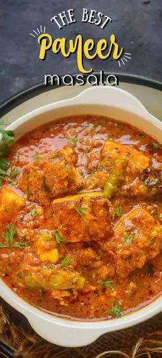 Paneer Masala Recipe, Butter Masala Recipe, Paneer Recipes, Indian Veg Recipes, Asian Recipes, Vegetarian Recipes, Cooking Recipes, Tiffin Recipe, Paneer Dishes