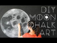 DIY Moon Chalkboard Art · Clover + Dot
