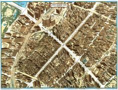 Haruhiko Suzaki, Axonometric map of Tokyo's Ginza Area (1992)