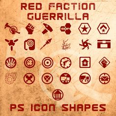 Red Faction Guerrilla Shapes by *Retoucher07030 on deviantART
