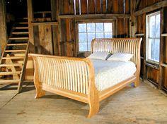 Vermont Sleigh Bed by Vermont Custom Furnituremaker Walt Stanley