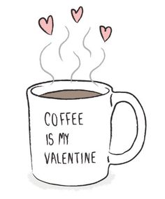 Image result for coffee and valentine's day