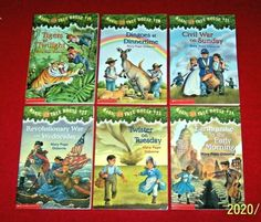 6 Magic Tree House Books #19 20 21 22 23 24 Mary Pope Osborne Ages 6-10 RL M