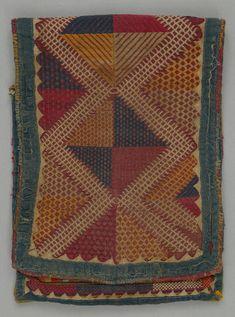 Bag; Western India, Maharashtra, Khandesh; Banjara; c.1940; 57x21.5 cm; Cotton; Woven; appliquéd; embroidered