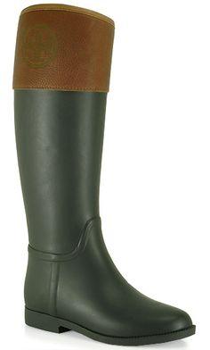 Tory Burch - Diana - Rubber Tall Rain Boot