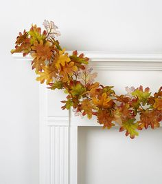 Oak Leaves Chain Garland Orange, Brown at Joann's