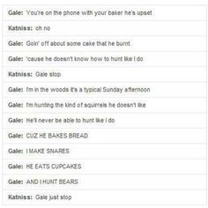 "Gale's version of ""You Belong With Me"" by Taylor Swift...Oh, Gale!!! <3"