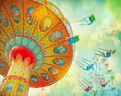 Carnival photography  Mint green circus colors  by CarlChristensen, $30.00