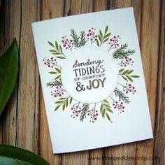 CTMH From the Heart celebrating National Stamping Month combined with WYW Joyful Tidings | CAS cards | easy Christmas cards