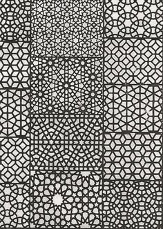 Either for frame work or a faked negative space? Moroccan Tile Patterns.