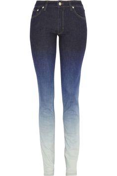Flex 5 Pocket ombré mid-rise skinny jeans by Acne