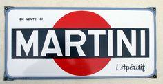 Martini Emailleschild, abgekantet, ca 55 x 30 cm, Frankreich um 1950, Verkauf: alte Werbung und Reklameobjekte Emailleschilder Blechschilder Emailschilder Werbeschilder