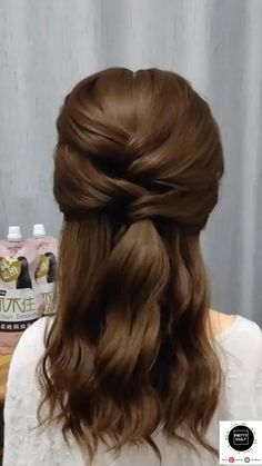 Hairdo For Long Hair, Easy Hairstyles For Long Hair, Braided Hairstyles, Hairstyle For Medium Length Hair, Work Hairstyles, Indian Hairstyles, Straight Hairstyles, Wedding Hairstyles, Front Hair Styles