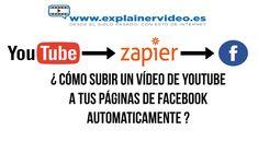 ¿ Cómo subir un vídeo de Youtube a Facebook automaticamente ? Videos, Youtube, Board, Youtubers, Youtube Movies