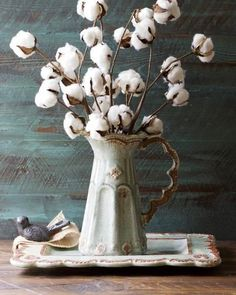 decorating with cotton stems / via Gin Creek Kitchen