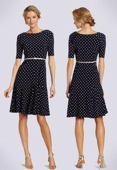 Navy Lolly Dress Modest Fall Dress Modest Teacher Dress   Fall ...