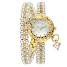 Fashion Women's Lovely Butterfly Cubic Zirconia Bracelets Quartz Wrist Watches