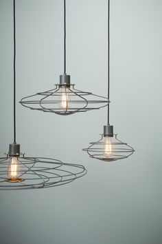 Loving these industrial lights...