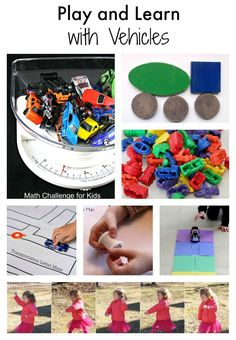 Play and Learn with Vehicles: A Collection of Early Learning Lesson plans and activities for math, reading, science and fine motor.