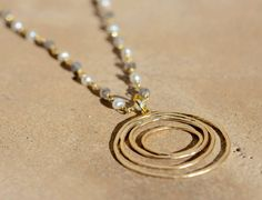 Inspirational Necklace Calming Stone Healing by IntentionGems, $45.00
