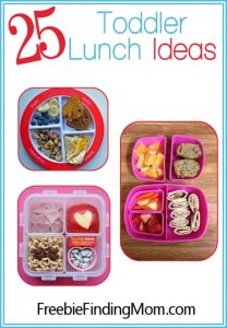 25 Toddler Lunch Ideas from FreebieFindingMom.Com! #lunchideas #toddlers #kidstuff