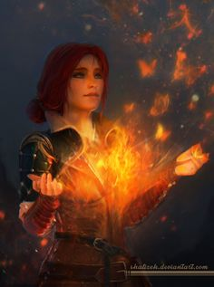 Triss Merigold from Witcher 3: Wild Hunt. DA page link -http://shalizeh.deviantart.com/art/Triss-Merigold-543629053