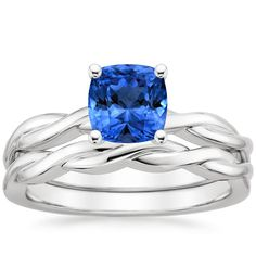 18K White Gold Sapphire Twisted Vine Matched Set from Brilliant Earth