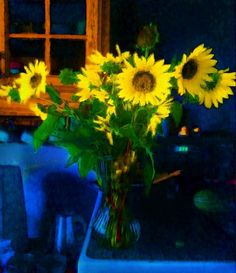 Sunflower Bouquet from the garden digital art