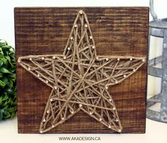 String art suddenly seems popular again, so I might give this rustic star a go