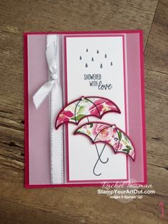Tanglewood Threads: A February Beginning - Mila Umbrella Cards, Under My Umbrella, Stamping Up Cards, Get Well Cards, Paper Pumpkin, Paper Cards, Homemade Cards, Paper Design, Making Ideas