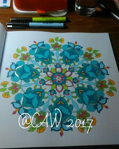 Finally had time to colour again! This one's from 'Mijn wonderlijke wereld, deel 4' by Masja's artwork. I used Faber Castell Pitt artist pens, Stabilo 68 & 88 and gel pens.