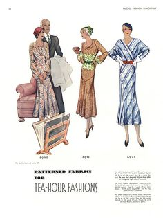 tea-hour fashions. McCalls Fashion By-Monthly, 1932