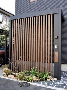 Gate Design, Facade Design, Door Design, Exterior Design, Privacy Fence Designs, Window Grill Design, House Front Design, House Entrance, Facade House