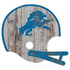 NFL Detroit Lions Distressed Helmet Cutout Sign