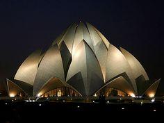 Delhi's Baha'i Lotus Temple, 1986