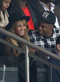 Beyonce & Jay At PSG v Barcelona Match 30.09.2014