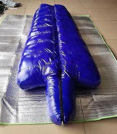Shiny nylon Mummy down sleeping bags Mummy closed sleeping bag outdoor wet-look Mummy Sleeping Bag, Down Sleeping Bag, Sleeping Bags, Nylons, Haha, Point Break, Straight Jacket, Sleep Sacks, Wet Look