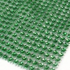 1 Yard Green Wedding Diamond Mesh Wrap Roll Sparkle Rhinestone Crystal Looking Ribbon 4.6' Good Crafted DIY Ideas *** Click image for more details.
