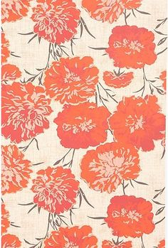 peony wallpaper; also, could paint small entry to the bathroom, a really pretty  mint or turquoise shade that is light in hue.