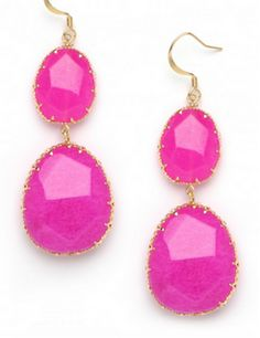 A bright earring is great to make an outfit pop!
