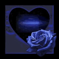 Animated Roses and Hearts | Blue Heart Rose - Animated Flowers - download-city