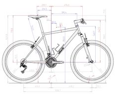 AutoCAD 2013 course for beginners Learn for free: courses, guides and manuals . Mechanical Engineering Design, Mechanical Design, 3d Autocad, Bike Sketch, 3d Sketch, Sketches, Solidworks Tutorial, Isometric Drawing, Wood Bike