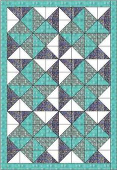 Sew Block Quilt Big dipper quilt pattern and tutorial from Ludlow Quilt and Sew - This big dipper quilt is made using squares so that you could use a charm pack. It forms a delightful pattern of double pinwheels but is easy to make Charm Square Quilt, Half Square Triangle Quilts, Charm Pack Quilts, Charm Quilt, Quilting Tutorials, Quilting Projects, Quilt Modernen, Baby Quilt Patterns, Pinwheel Quilt Pattern