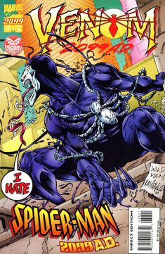 Spider-Man 2099 vol 1 #38 | Variant cover art by Andrew Wildman & Stephen Baskerville